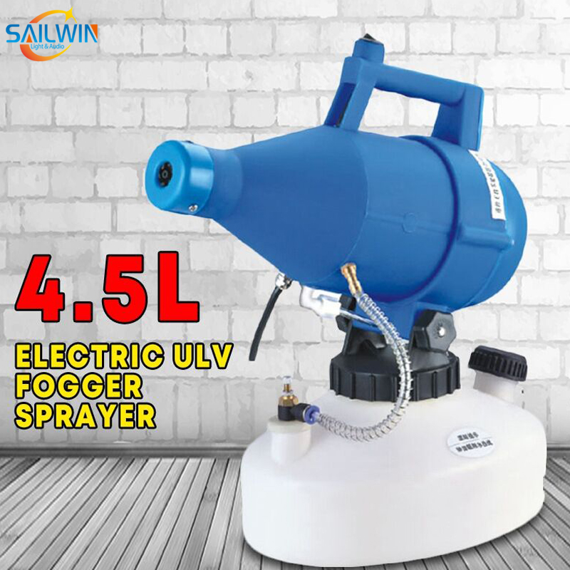 1400W 4.5L ULV Disinfection Fogger Smoke Machine Portable Nebulizer Sprayer